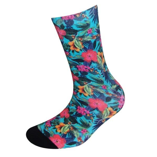 COOL7- 3D Print Damen Bambus Socken Flower Life