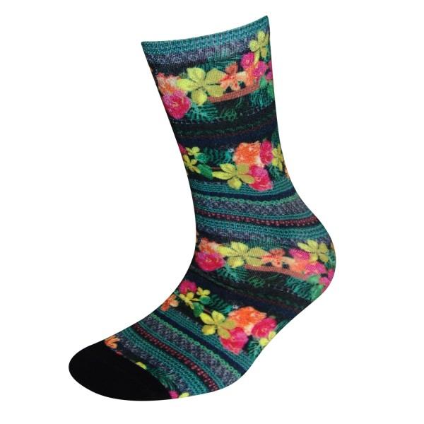 COOL7- 3D Print Damen Bambus Socken Green Mile