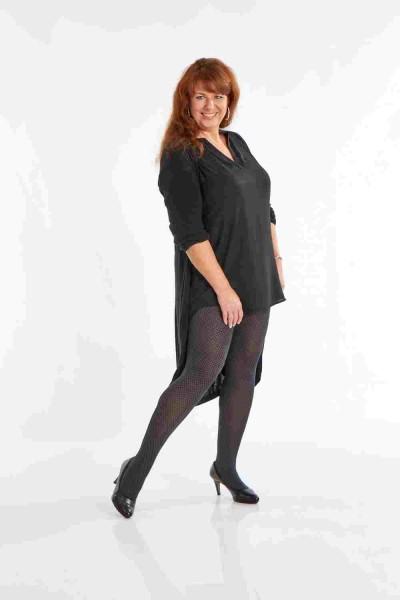 Plus Size Damen Muster Strumpfhose ORNELLA 70 DEN