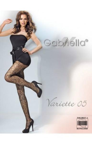 Gabriella Netzstrumpfhose mit Blumen Muster VARIETTE 05