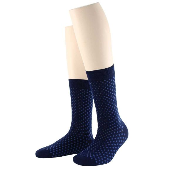 Damen Baumwollsocken mit Allover Punkte Wilox Gold FASHION DOTS