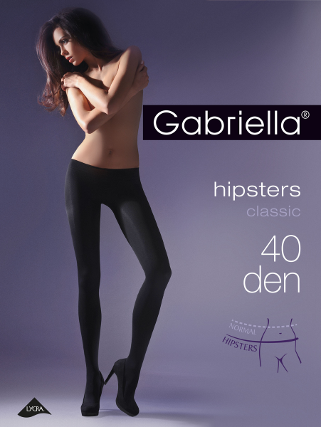 Extrem bequeme Strumpfhose ohne Muster HIPSTERS CLASSIC 40 DEN
